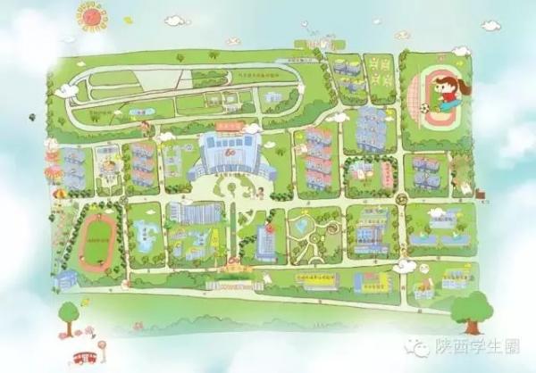 陕西各高校的卖萌手绘地图 你们学校长啥样?