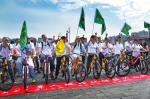 """""""无声骑行 美丽西安""""聋人环保骑行活动在西安城墙举行 - 人民政府"""
