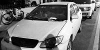 西安红缨路一轿车停在车位上已一年多 欠费八千余元 - 古汉台