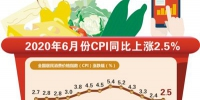 6月份CPI同比上涨2.5% 市场运行总体平稳 预计下半年CPI涨幅将低于上半年 - 西安网